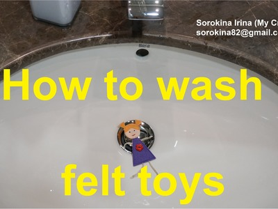 How to wash felt toys