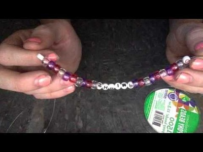 "Instructables; ""How-To"" Instructions for a Pony Bead Bracelet"