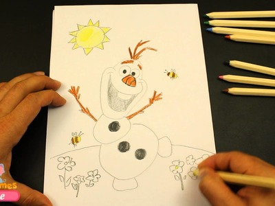 Olaf Frozen Coloring Pages | How to Draw Olaf | Frozen Coloring Book