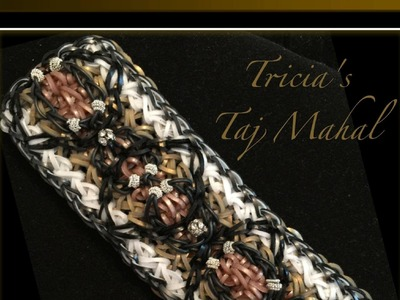 Rainbow Loom Band Tricia's Taj Mahal Bracelet Tutorial.How To