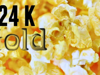 DIY 24K GOLD Pop Corn! How to Make Metallic GOLD Pop Corn