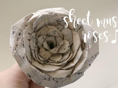 DIY | How to Make Sheet Music Roses | rachel republic