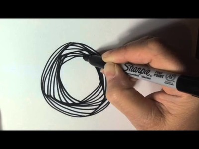 Doodle Paradox pattern inside of a Circle (How To, tutorial, Pursuit Curve, pattern, YouTube)
