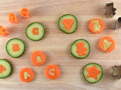 Fun Food Tutorial - How to make Carrot & Cucumber Coins