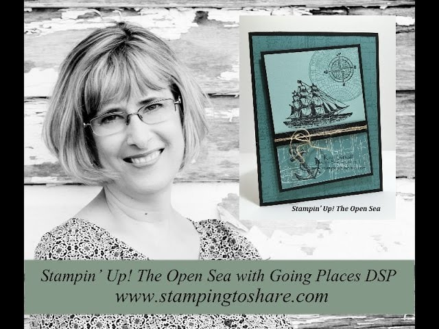 How Make a Masculine Card with The Open Sea from Stampin' Up!
