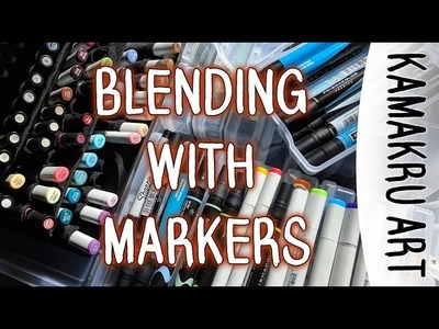 How to blend markers Tutorial: Using Copics and Prismacolors