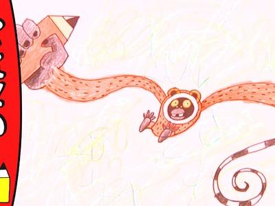 How To Draw A Gibbon | Art Ideas For Kids | Øistein Kristiansen