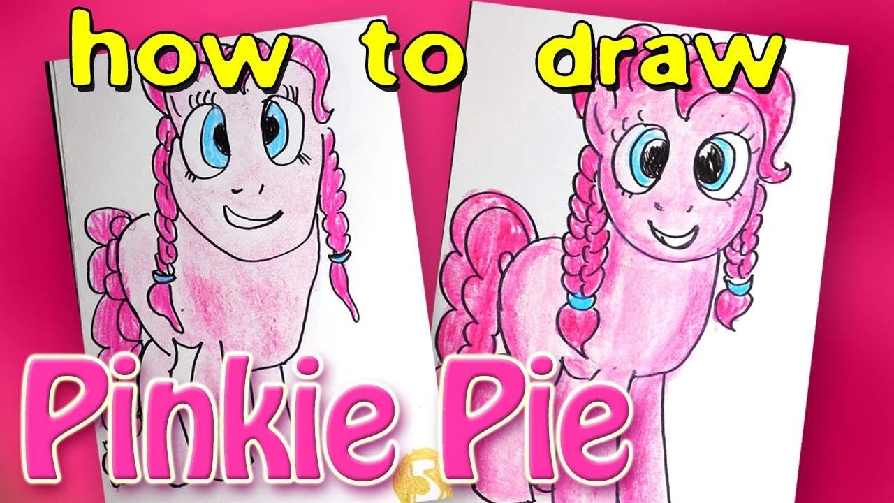 How to draw a Pony Pinkie Pie from the cartoon My Little Pony