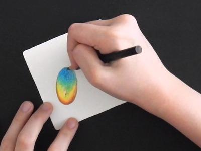 How To Draw an Ammolite Gemstone