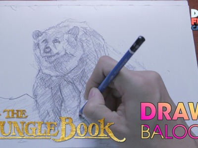 HOW TO DRAW BALOO FROM JUNGLE BOOK - STEP BY STEP