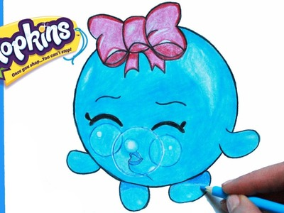 """How to Draw Shopkins Season 1 """"Bubbles"""" Step By Step Easy 