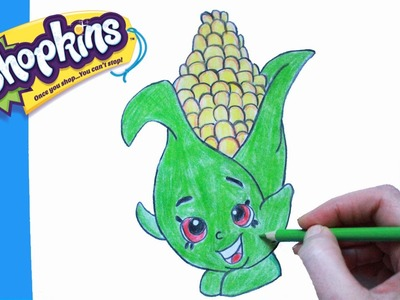 "How to Draw Shopkins Season 2 ""Corny Cob"" 