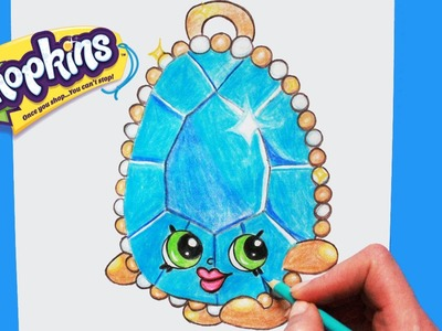 "How to Draw Shopkins Season 3 ""Brenda Brooch"" Step By Step Easy 