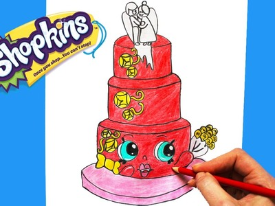 """How to Draw Shopkins Season 3 """"Wendy Wedding Cake"""" Step By Step Easy 