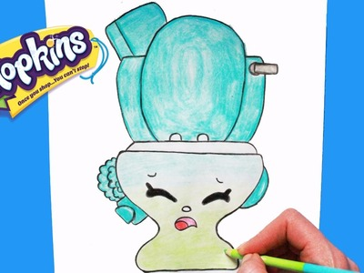 How to Draw Shopkins Season 4 Flushes | Toy Caboodle