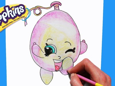 """How to Draw Shopkins Season 4 """"June Balloon"""" 
