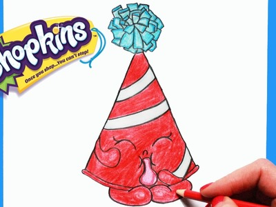 """How to Draw Shopkins Season 4 """"Marty Party Hat"""" Step By Step Easy 