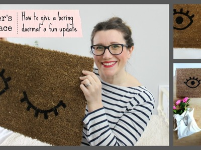 How to give a boring doormat a fun new look | Heather's Space