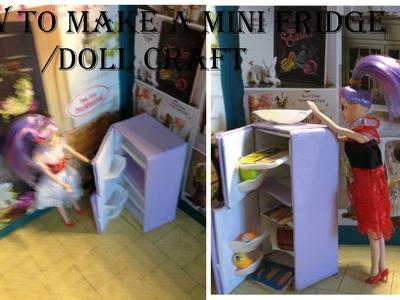 How to make a mini fridge for mini dolls. doll craft