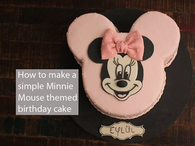 How to make a Minnie Mouse themed Birthday Cake. Minnie Mouse Geburtstagstorte