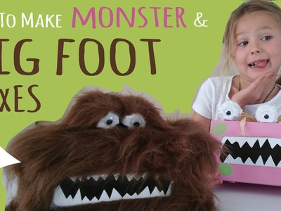 How to Make a Monster Box & Big Foot Box – Kleenex Box Craft – Monster Crafts