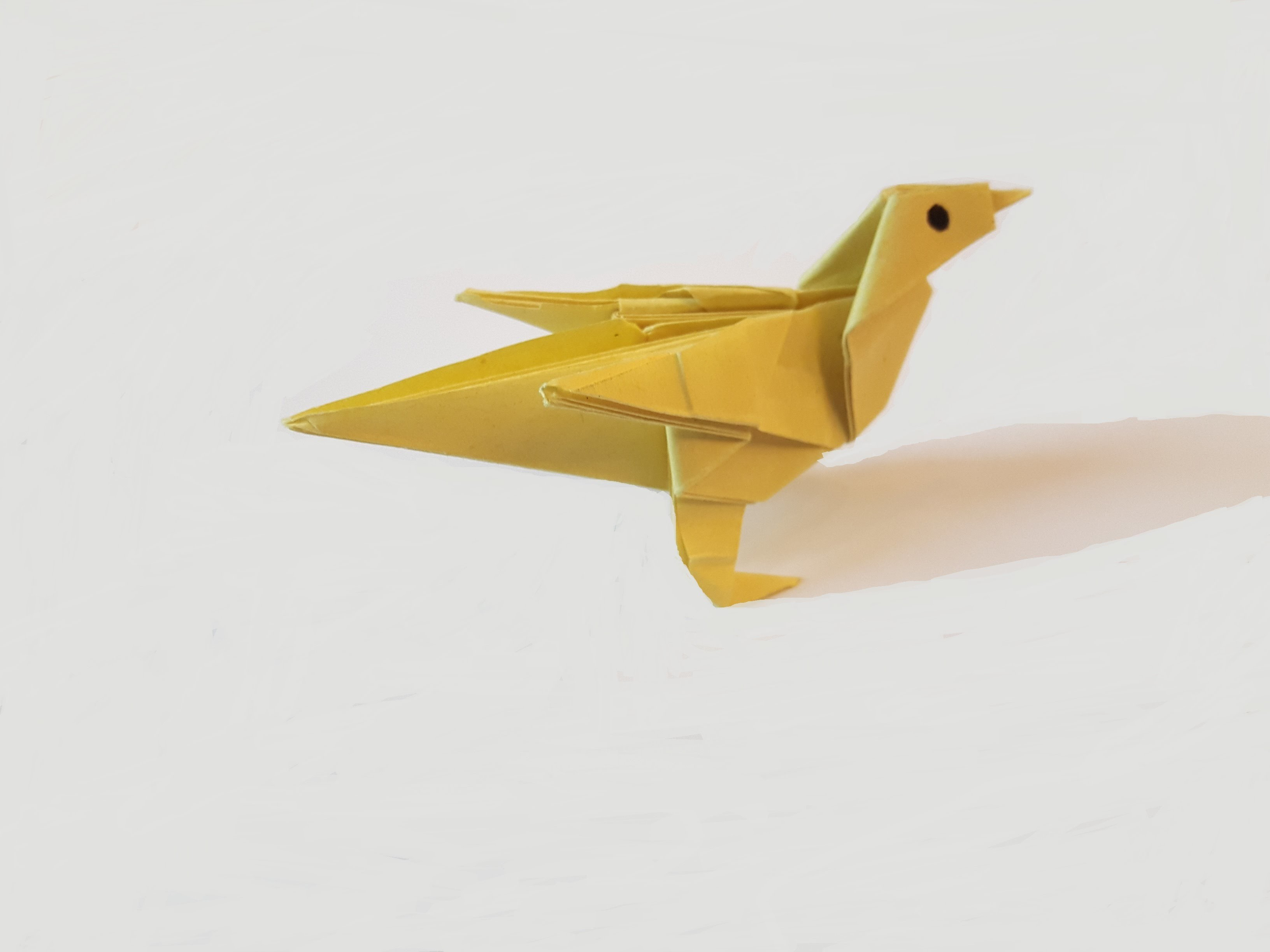 How To Make A Paper Bird Easy Origami Chicken