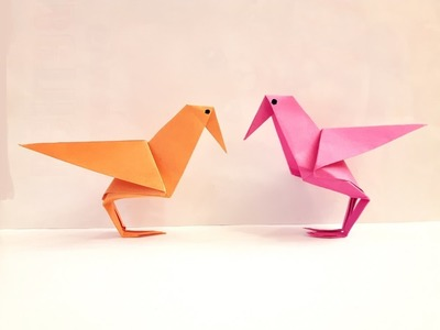 How to make a Paper bird? (raven)