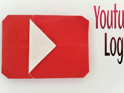 "How to make a Paper ""Youtube Logo. Icon"" - Easy Origami Tutorial"