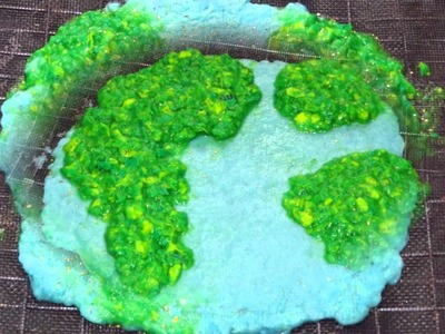 How To Make A Recycled Paper Earth Card