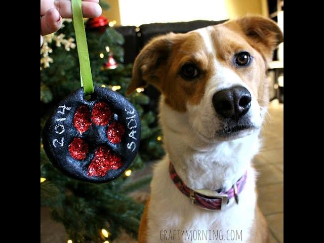 How To Make a Salt Dough Puppy Paw Print Ornament