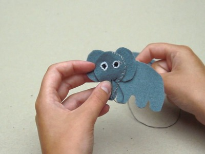 How to make a super cute felt elephant family