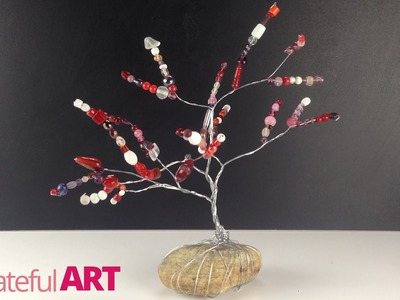 "How to make a ""Wire Tree""--sculpture with beads"