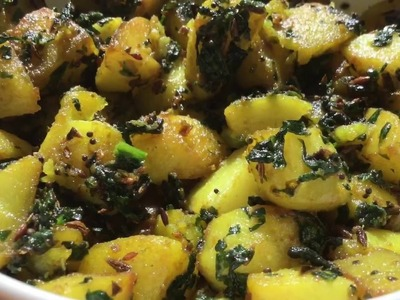 How to make Aloo Palak fry | SImple,Quick and Easy Recipe