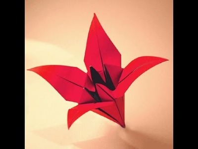 How to make an origami flower lily.orchid
