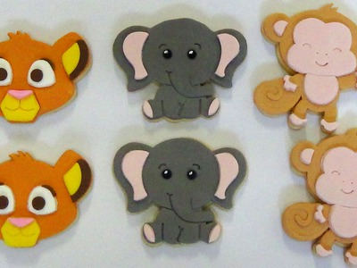 How to make baby jungle animal sugar cookies