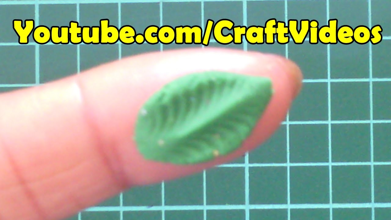 How to make Clay Leaf - Polymer Clay Ideas