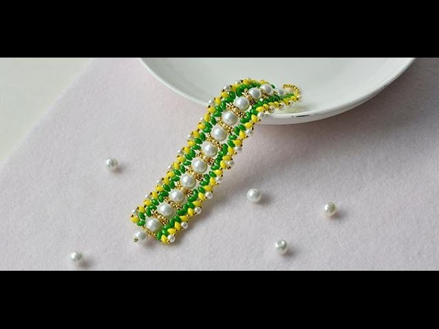 How to Make Colorful Pearl and 2 Hole Seed Beads Bracelets for Women