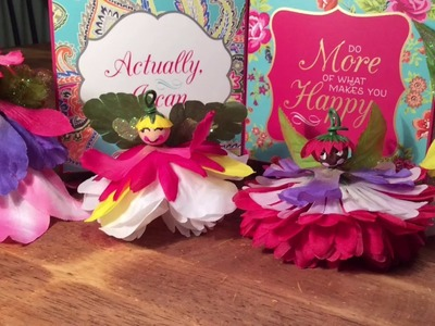 How to Make Easy DIY Flower Princess Fairies For decorating or Play! By Crafty Conjuring