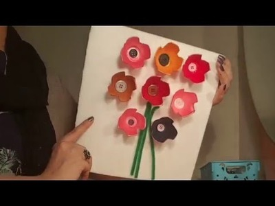 How To Make Egg Carton Flowers | Best out of waste