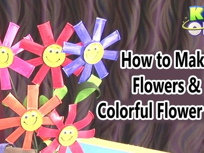 How to Make Flowers and Colorful Flower Pots | Easy Crafts for Kids | Creative Corner