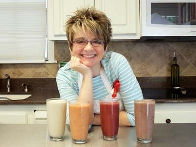 HOW TO MAKE FOUR OF MY FAVORITE SMOOTHIES- CHERRY, PEANUT BUTTER, ORANGE, & GREEN
