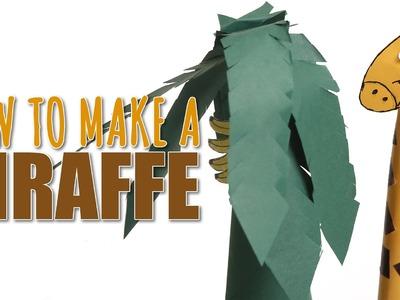 How To Make Giraffe   Learn Art and Craft   DIY Decorated  Paper Giraffe   Kids Art and Craft
