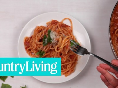 How to Make One Pan Spaghetti | Country Living