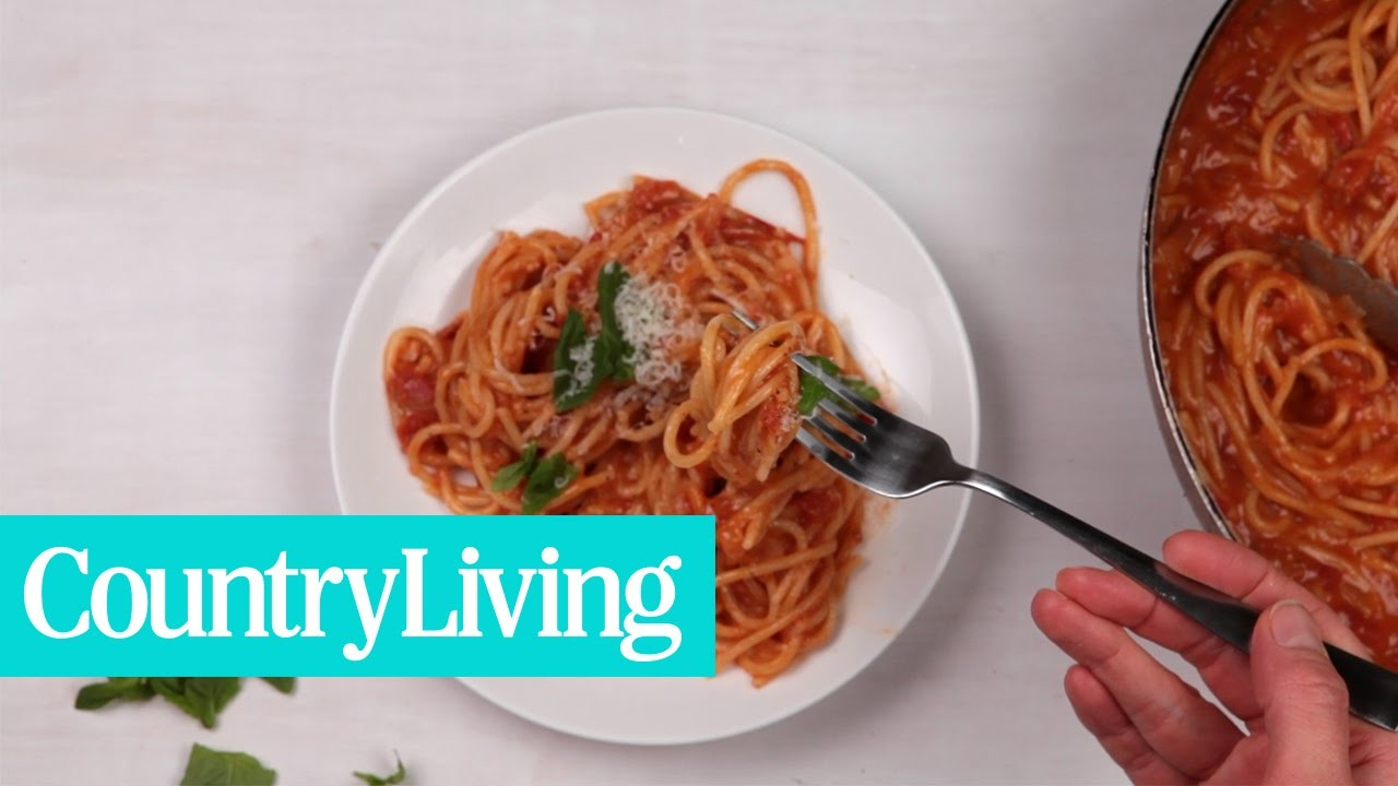 How to Make One Pan Spaghetti   Country Living