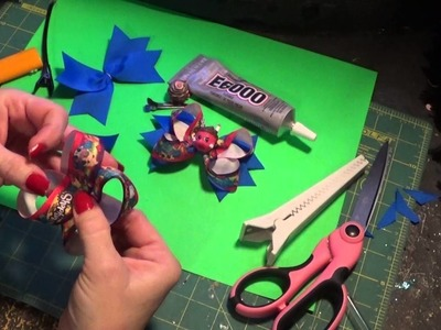 How to make simple pig tails bows and add shopkins in the middle