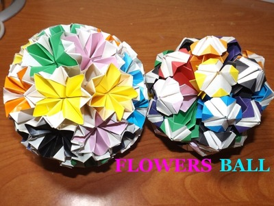 How to make Two types of flowers ball - tutorial