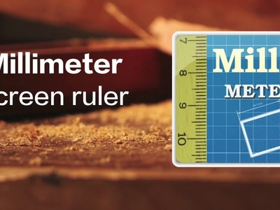 "How to measure TPI (threads per inch) with ""Millimeter -screen ruler"" App"