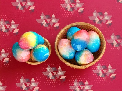 HOW TO PAINT EGGS FOR EASTER with their own hands. DIY COLORED EGGS AT EASTER.