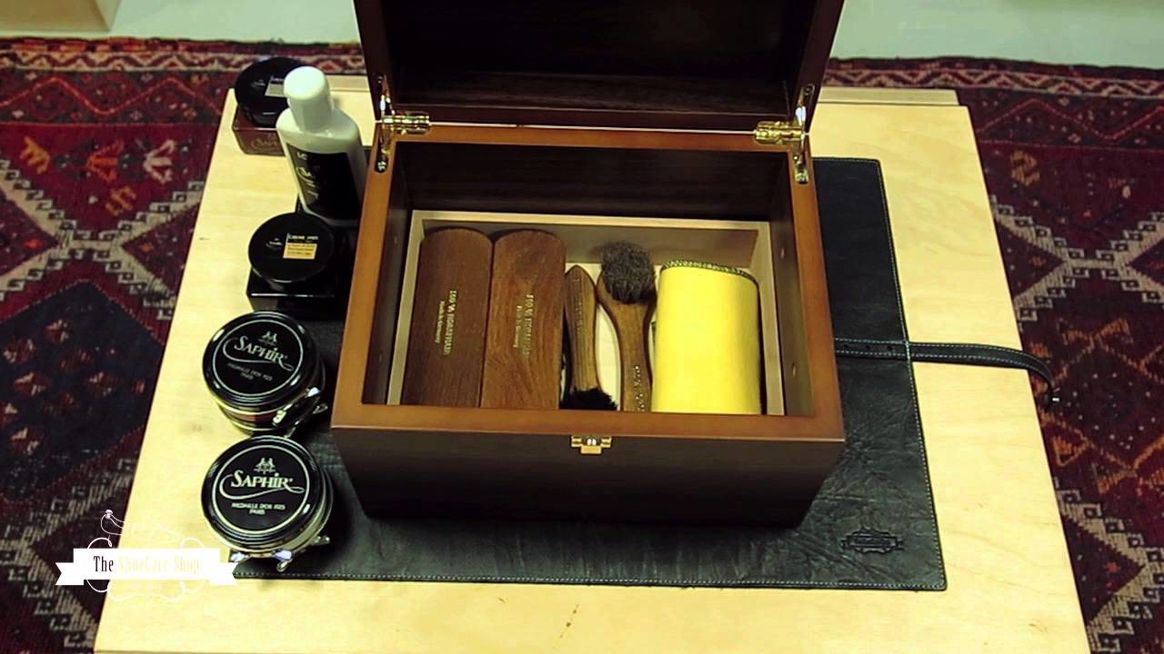 How to store your shoe care set in style