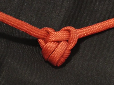 How To Tie A Miniature Paracord Heart Knot